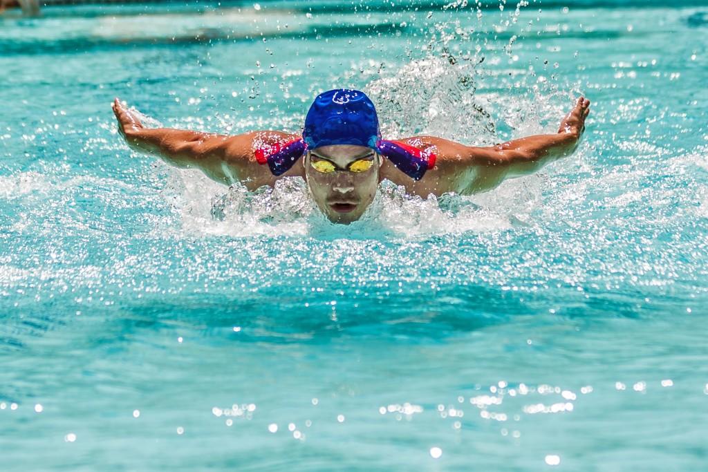 Swimming using TargetTape