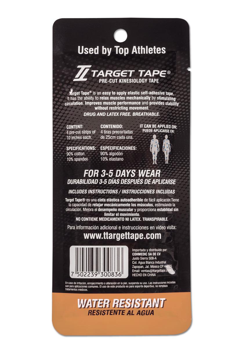 TT Target Tape precut blister pack back - Skin