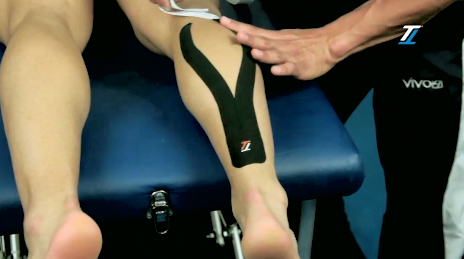 Calf strains treatment with TT Target Tape