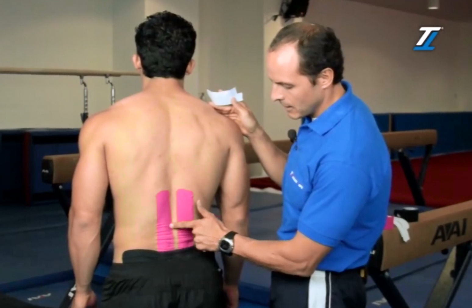 Lower back treatment with TT Target Tape