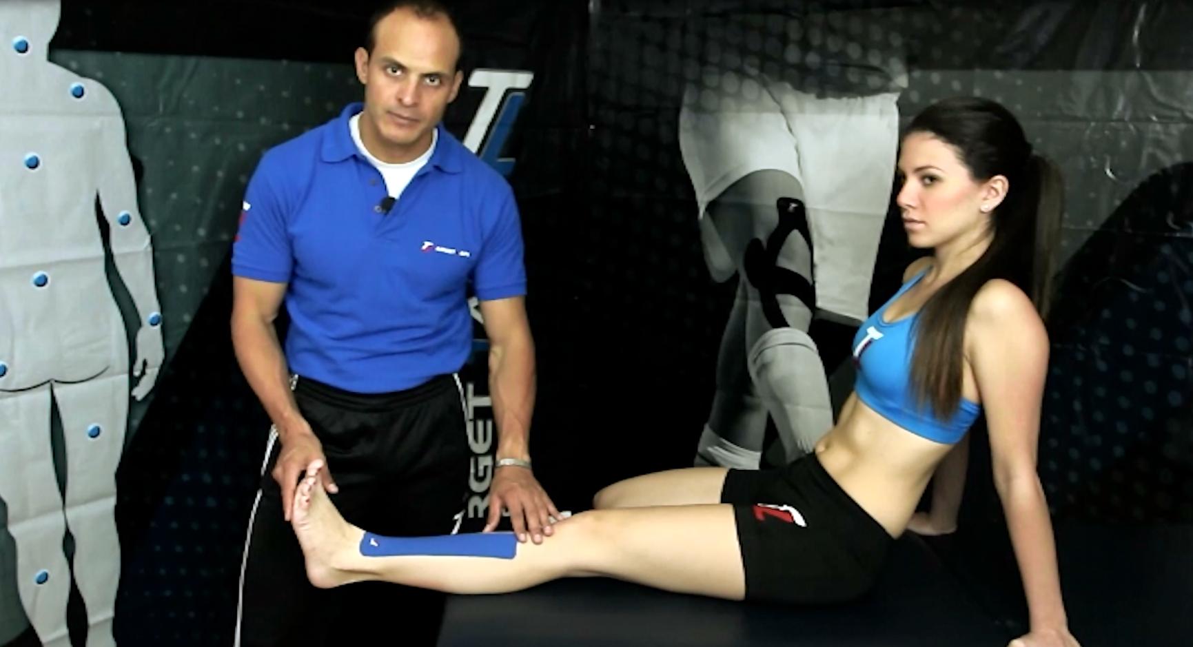 Shin Splints treatment with TT Target Tape