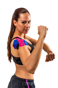 Kinesio tape to support your shoulders.